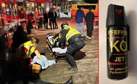 DRAMATISK: Hundrevis ble evakuert, fem ble behandlet av ambulansepersonell på stedet, mens tre ble sendt til legevakt eller sykehus.