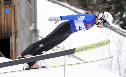 HOPPTALENT: Gyda Westvold Hansen har alltid likt å hoppe på ski. Derfor var det naturlig at hun skulle satse på hopp og kombinert.