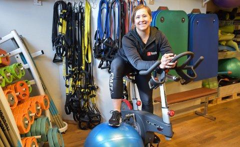 SELVSTENDIG: Kristin Kjøs eier og driver Family Sports Club Løten. Fra nyttår trekker hun treningssenteret ut av den landsdekkende kjeden.