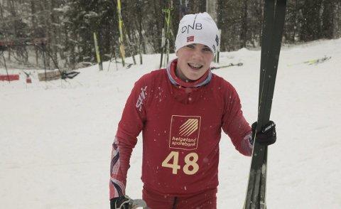 VANT NORGESCUP: Sondre Gjesbakk vant norgescuprennet på Voss lørdag, hans første seier i norgescupen. Ellers viste nok en gang løperne fra Rana gode resultatet. Foto: Stian Forland