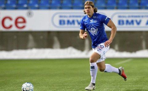 ETTERTRAKTET: Martin Bjørnbak scoret i fjor syv mål på 34 kamper for Bodø/Glimt, og det som midtstopper. Ikke rart mange klubber har jaktet bjerkaværingen, som da han forlot Rana spilte for Stålkameratene.Foto: Svein Ove Ekornesvåg