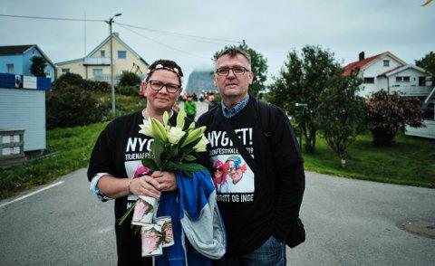 NYGIFT: May-Britt Nyborg og Inge Langfjord gifta seg på Petter Dass-kapellet under Trænafestivalens andre dag, den 11. juli.