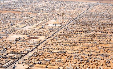 En flyktningleir i Libanon