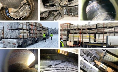 KONTROLL: Statens vegvesen hadde kontroll på Ånestad trafikkstasjon i Løten torsdag.