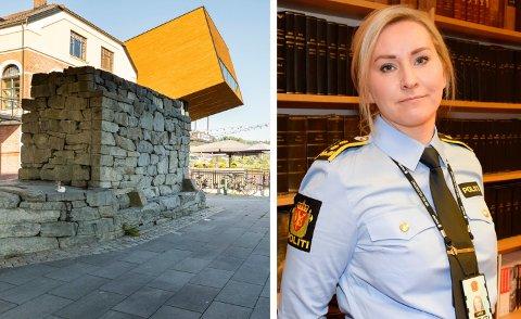 SKJEDDE HER: Voldsepisoden skjedde ved det gamle brukaret under bybrua, rett ved Gledeshuset. Nå henlegges saken, opplyser politiadvokat Lise Kjexrud-Egge.