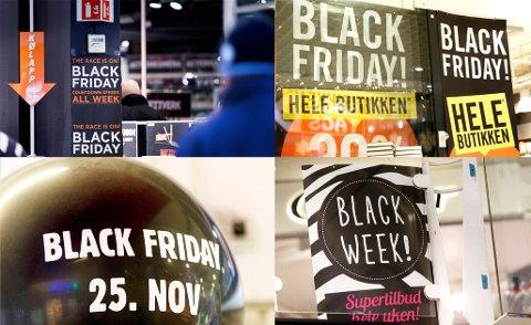 Flere butikker har hele uka reklamert for Black Friday. Foto: Gorm Kallestad / NTB scanpix