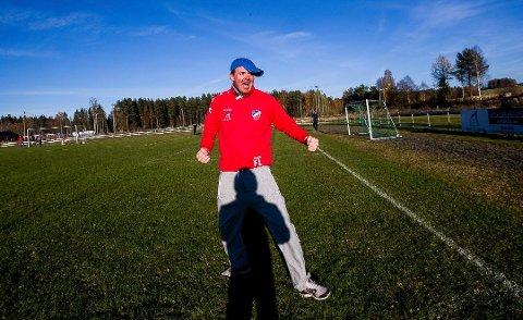 OVERRASKET: Fredrik Larsen og hans Blaker slo Gjelleråsen 5-3 i 4. divisjon lørdag.