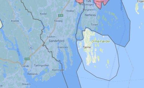 STRØMLØST: 135 husstander i Sandefjord er uten strøm.