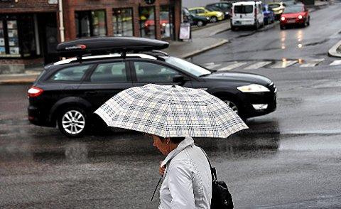 NEDBØR: Det blir en regntung uke i distriktet de neste dagene.