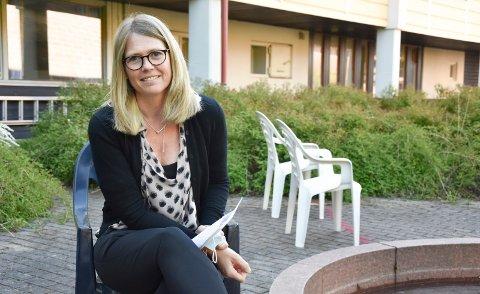 NØDVENDIG: Virksomhetsleder Gerd Anette Simonsen på Løkentunet i Askim mener et besøksforbud er nødvendig nå.