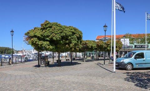 TOMT: Det har lenge vært tomt i gatene i Strömstad, men nå sier turistsjefen i byen at det har tatt seg opp noe. – Vi merker et bedre besøk av svenske turister, hun.