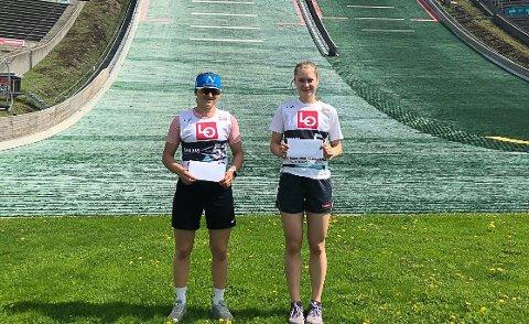 VANT: Heidi Dyhre Traaserud (t.v) vant sesongens første norgescuprenn på Lillehammer lørdag, mens Ingrid Hordvik Kleven (t.h) fra Kongsberg vant søndag.