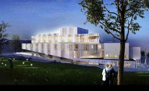 Utfordring: Opera- og kulturhuset, hentet fra en tidligere illustrasjon. Dette blir for dyrt, mener Frank Sve.