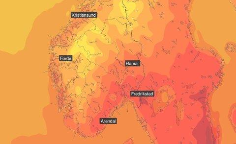 VARME PÅ VEI: Er du klar for en helg med sol og gode temperaturer?