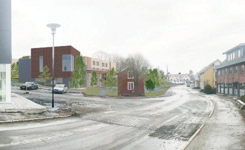 Slik blir det nye helsehuset på Straumen når det står ferdig i 2022.