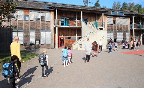 78 skolebarn på 1.-10. trinn i Vestby har blitt testet for koronavirus siden skolen startet igjen. Her fra skolestart høsten 2019 på Vestby skole.