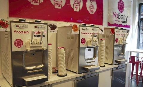 Yoghurt-is: Merkevaren YoBerry var produktet Sandefjord-selskapet kjøpte av Kulinaris og solgte ni steder på Vest- og Østlandet. Foto: Kulinaris AS