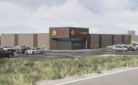 Ny butikk: Slik ser Coop Midt-Norge for seg at den nye Extra-butikken i Gjøsvika kan bli seende ut. Røros kommunestyre har vedtatt forslaget til reguleringsplan for Havsjøveien 3 og 5.
