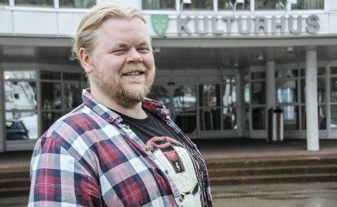 Steinar Husby på kulturhuset på Sunndalsøra.
