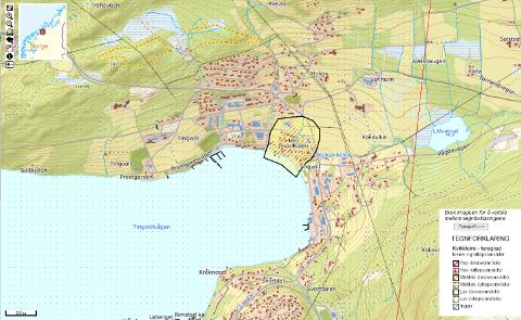 I Tingvoll er det kartlagt et område med kvikkleire, som har lav faregrad.