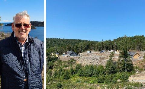 SOLGTE UT HYTTEFELTET: De 28 tomtene med hytter på Kallerberget er utsolgt tre år etter at John Olav Gjelstad kjøpte eiendommen.