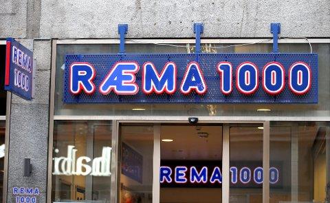 Oslo  20170103. Logoen på enkelte Rema 1000 butikkene heter nå Ræma 1000 har noe på gang med en æ. Men ingen som vet, vil si hva det dreier seg om.  Foto: Gorm Kallestad / NTB scanpix