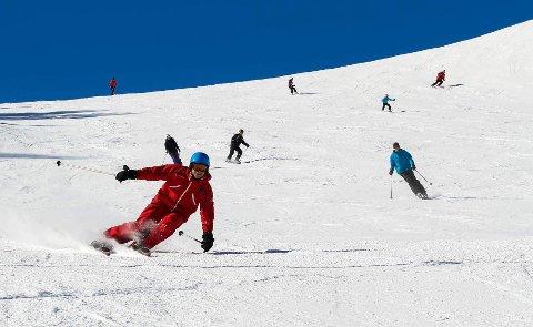 Sebastian Steffens jobbet et år som skiguide i Østerrike, og er noe så sjeldent som en danske som er god på ski. Foto: Privat