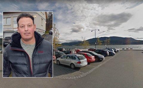 Bård Larsen har store planer for Amfi-kaia, hvis han får lov. Nå har han henvendt seg til Fauske kommune. Foto: Google Maps/Christian A. Unosen