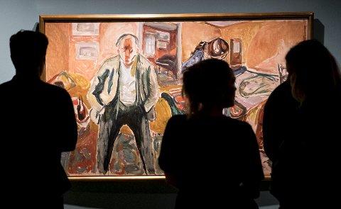 MUNCHS FØDSELSDAG: Edvard Munch ble født 12. desember 1863. Torsdag markerer Kode dagen med gratis adgang på den store Munch-utstillingen.Arkivfoto: Skjalg Ekeland