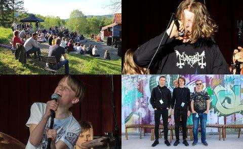 UNGE TALENTER: For aller første gang ble det arrangert Eiker Rock ung på Portåsen. Det var åtte band som spilte, og ungdommen var fra Nedre Eiker, Øvre Eiker og Lier.
