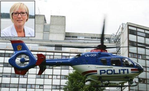 NÆR: Frida Melvær (H) har sendt ut ei pressemelding der ho slår fast at nye politihelikopter på Gardermoen vil gje meir politi nær folk. Den avbilda helikoptermodellen er den politiet no skal erstatte.
