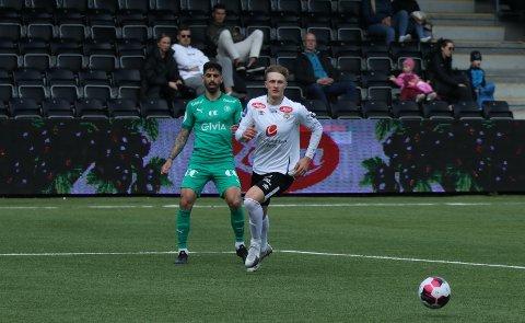 TUNGT: Anders Nord og Sogndal sleit med å få spelet til å fungera mot eit solid HamKam-lag, og tapte 0–1 i laurdagens generalprøve.