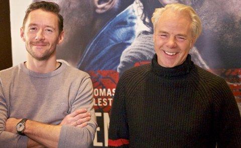 Harald Zwart (t.h) sammen med hovedrolleinnehaver Thomas Gullestad.
