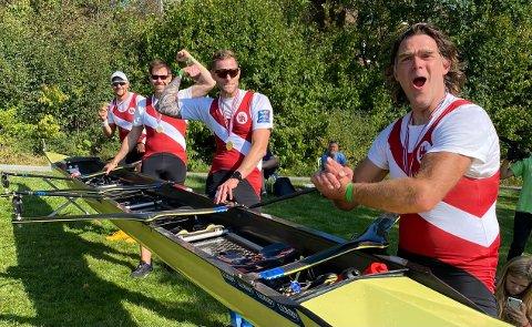 """FIN GJENNOMKJØRING: """"Gullfireren"""" med Olaf Tufte, Geir Lohne, Vidar Dyblie og Ole Christian Nord Pettersen fikk kjenne på konkurransenervene igjen to uker før NM."""