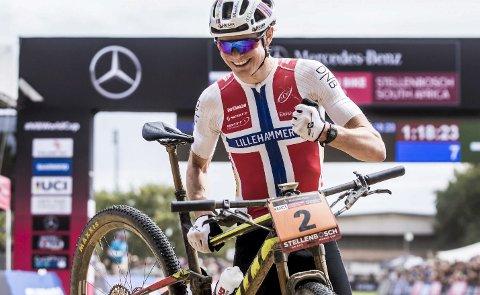 PROFF: Petter Fagerhaug, Lillehammer CK, vant verdenscupen i terreng for U23 i 2018. Nå har han blitt proff for det belgiske laget Corendon-Circus, men bor fortsatt på Lillehammer.