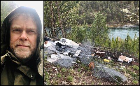 – Det er  et stort lass med søppel som er blitt tippet utover, fra Fylkesveg 51 mellom Ottadalen og Valdres. Dumpingplassen ligger et par kilometer etter avkjørselen til Ridderspranget, opplyser Tor Ole Ree.