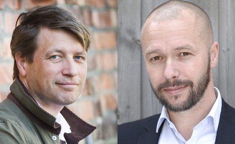 GOD DIALOG: Ole Richard Holm-Olsen i Høyre og Arve Sigmundstad i Arbeiderpartiet forteller at det er en god tone de to partiene i mellom, til tross for politiske uenigheter.