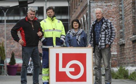 ARBEIDERNES DAG: 1.-mai-komiteen til LO Indre Hardanger har programmet klar. F.v. Terje Kollbotn, Ørjan Andersson, Dijana Saga og John Helge Rasmussen.