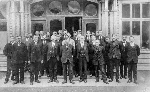 1922: Odda kommunestyre. Foto: NVIM sitt arkiv