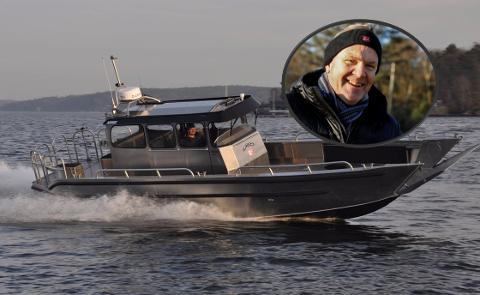 I BESTILLING: Friluftsrådet Vest og daglig leder Oddvin Øvernes har gått til innkjøp av en ny arbeidsbåt.