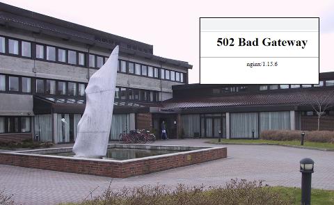 BAD GATEWAY: Slik ser feilmeldingen på Karmøy kommunes nettsider ut.