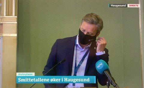 KLAR TALE: Kommunedirektør Ole Bernt Thorbjørnsen i Haugesund.