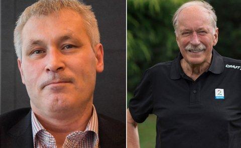 - PLATT:  Kvalsund-ordfører Terje Wikstrøm (t.v.) reagerte på, og kalte Johan Kaggestads gruveutspill på TV for platt og feil.