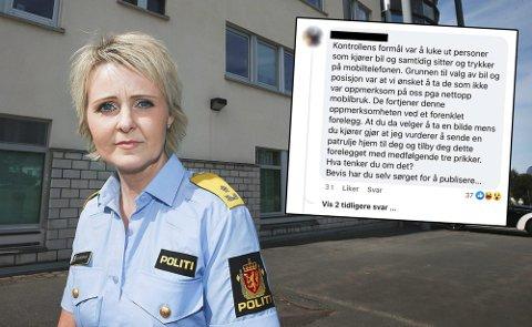 Politimester i Nordland politidistrikt, Heidi Kløkstad, er ikke imponert av fremgangsmåten til politimannen.