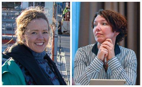 DEBATT: Styremedlemmene Henriette Hanssen (til venstre) og Eva Monica Hestvik hadde to vidt forskjellige syn på saksframlegget i tilknytning kjøpet av Selfors sykehjem under torsdagens styremøte.