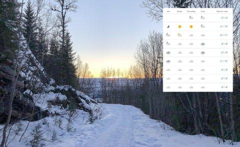 Det ser ikke ut til å bli de store endringene i været de neste dagene, men noe kaldere.