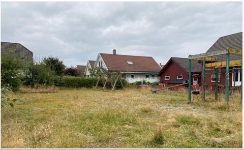 OVERGRODD: Slik ser det ut på leikeplassen mellom P. Krohns veg og Nymyra i Verdalen.