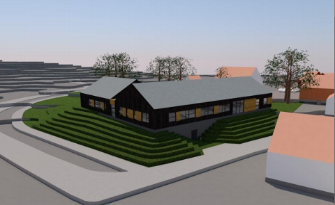 AVLASTNINGSBOLIGER: Slik kan avlastningsboligene på Skjeraberget bli seende ut. Kommunen håper at boligene er klare til innflytting ved årsskiftet.