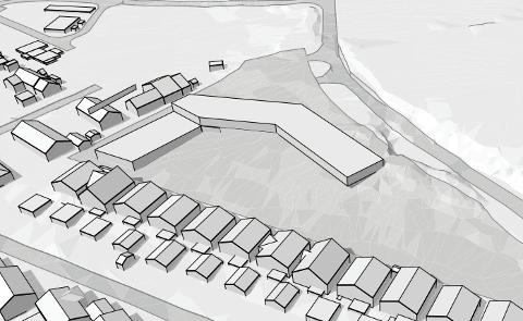 NY BARNEHAGE I VERDALEN: Barnehagetomta grensar til Sporafjellvegen i nord og bustadtomter i sør og vest. Barnehagen skal stå ferdig til bruk hausten 2023.