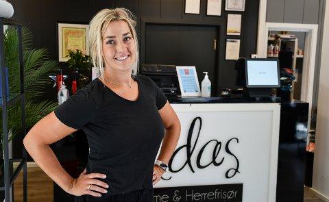 ERFAREN: Ida Malin Hindahl har jobbet som frisør i ti år. Nå skal hun for første gang stå på egne ben.
